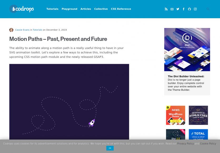 Motion Paths: des animations avancées avec GSap 3 et les CSS motion path
