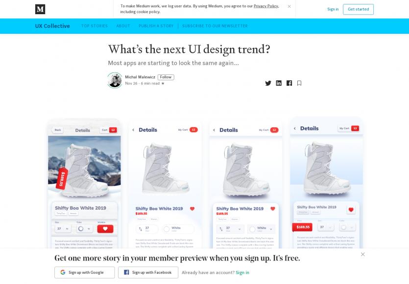 Quelles sont les prochaines tendances design UI ?
