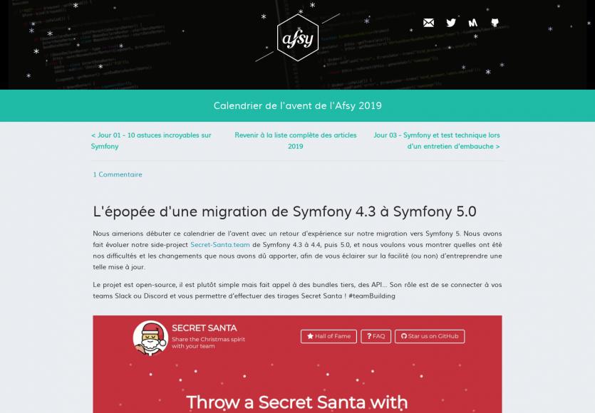 Retour d'expérience d'une migration de Symfony 4.3 à Symfony 5.0