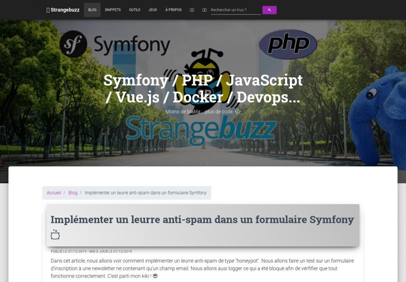 Créer un leurre anti-spam avec les form Symfony