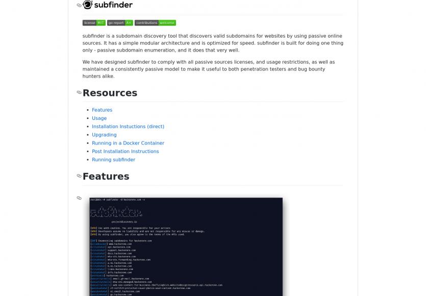 Subfinder: un outil pour détecter les sous domaines d'un nom de domaine