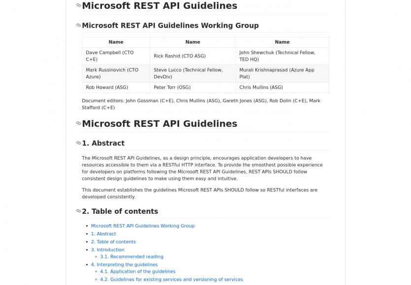 Microsoft REST API Guidelines: un guide pour l'architecture de vos API REST