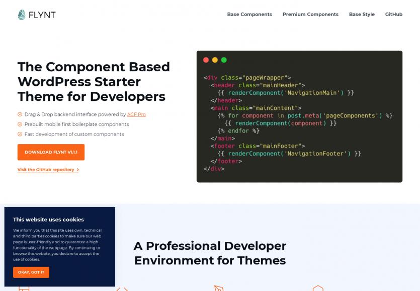 Flynt : une base de thèmes WordPress avec composants pour créer vos propres thèmes