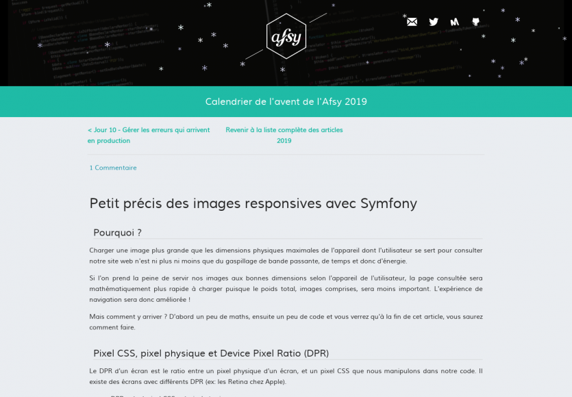 Gestion des images responsives avec Symfony