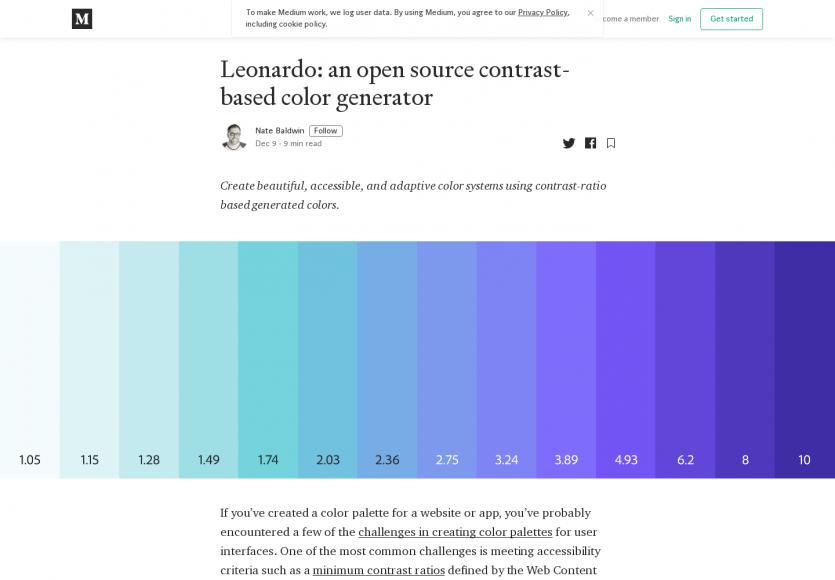 Leonardo : un générateur de palette de couleurs avec contraste idéal et accessible