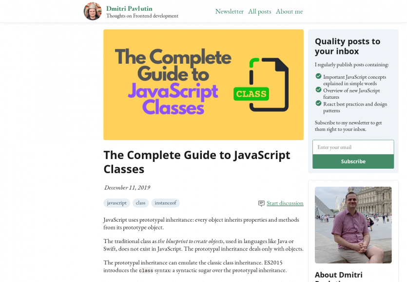 Un guide complet sur les classes en Javascript