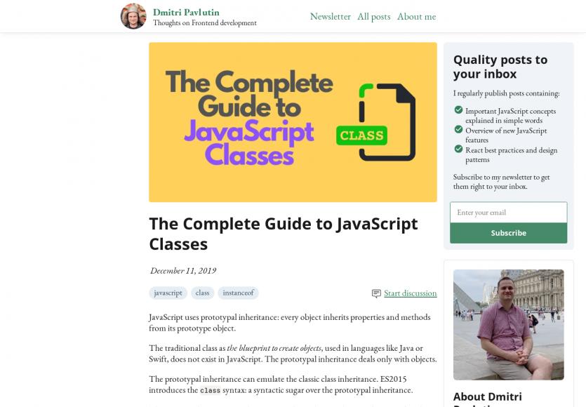 Un guide complet sur les classes en Javascript