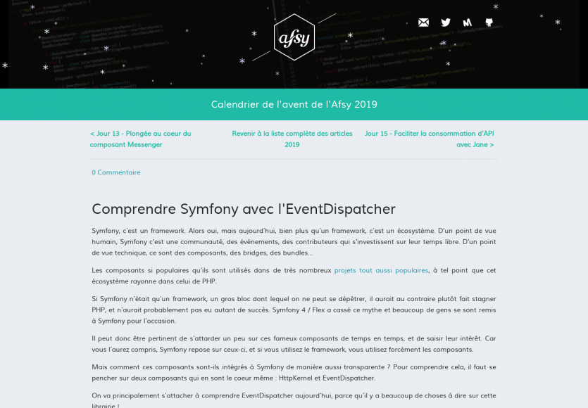 Comprendre Symfony avec l'EventDispatcher