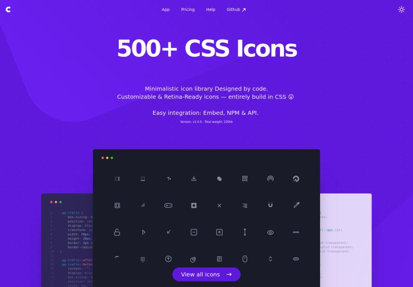CSS GG : 500 icônes CSS personnalisables pour vos projets web