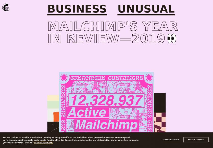 Le rapport annuel de Mailchimp avec des stats intéressantes