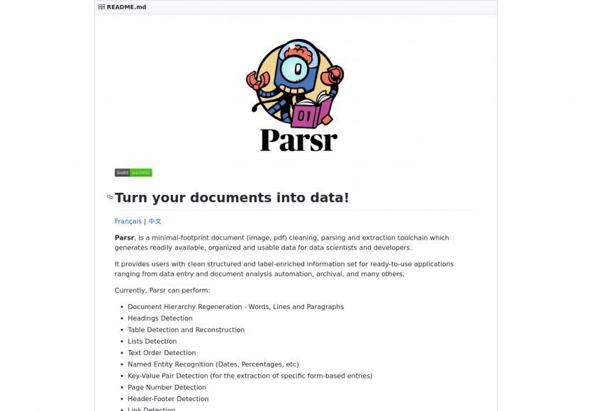 Parsr: transformez vos images et PDF en données normalisées facilement
