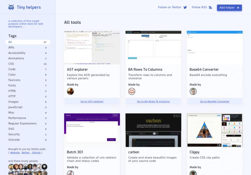 Tiny Helpers: une collection d'outils web gratuits pour développeurs