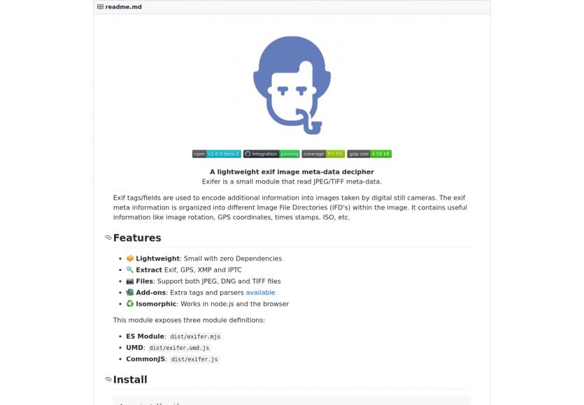 Exifer: une lib Javascript légère pour extraire les données EXIF des images