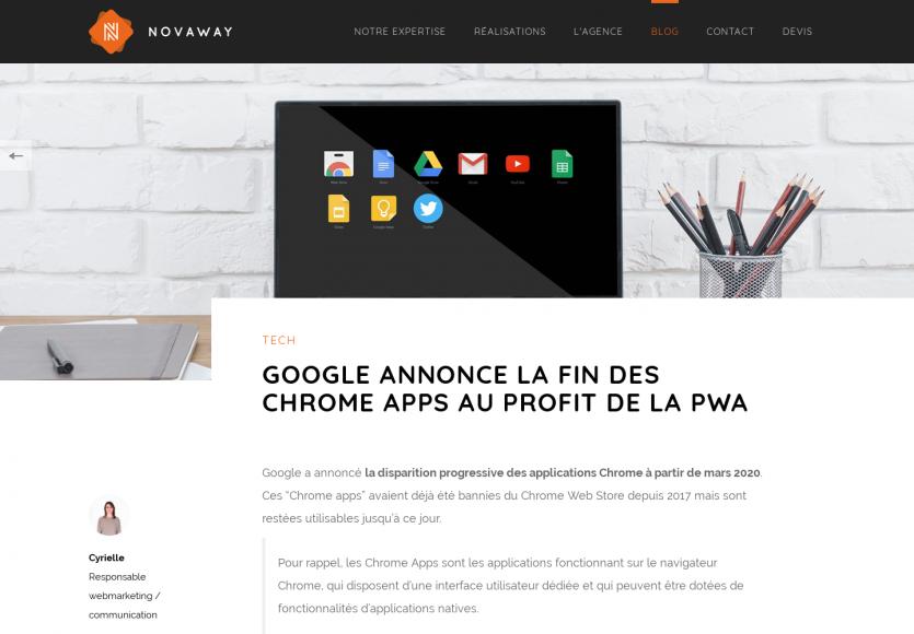 Google annonce la fin des Chrome Apps au profit des PWA