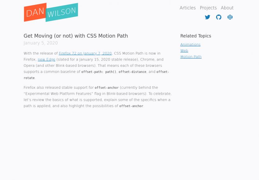 Animez en CSS avec les CSS Motion Path