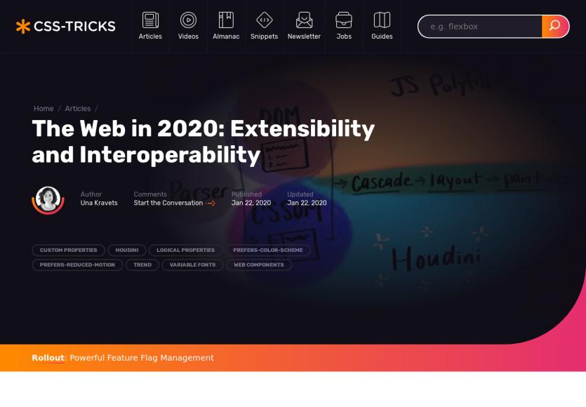 Le web en 2020 : extensibilité et interopérabilité