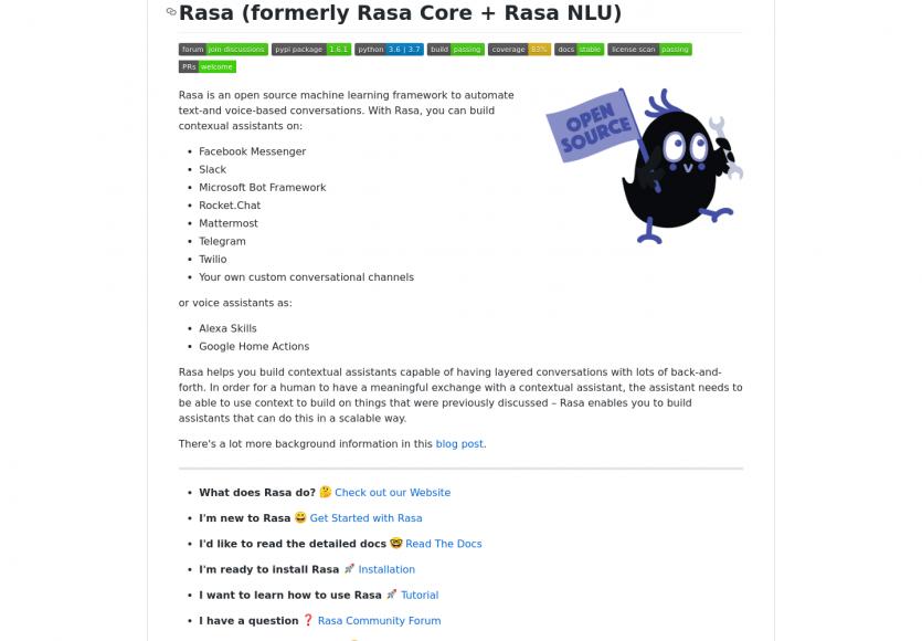 Rasa: du machine learning pour automatiser les conversations textuelles et vocales