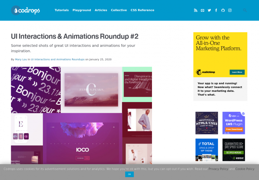 Des exemples d'animations et transitions modernes pour vos pages web