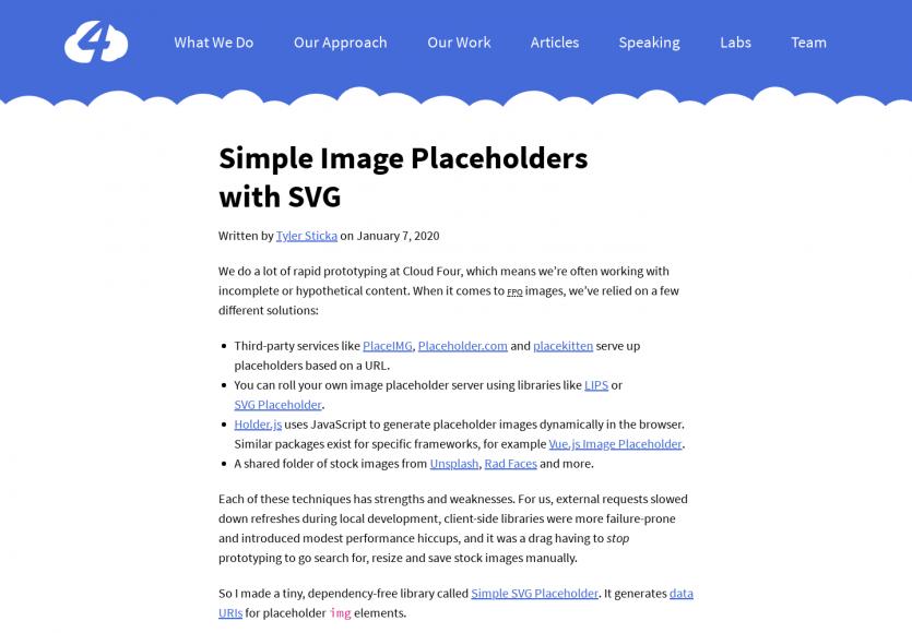 Des placeholders d'images simples en SVG