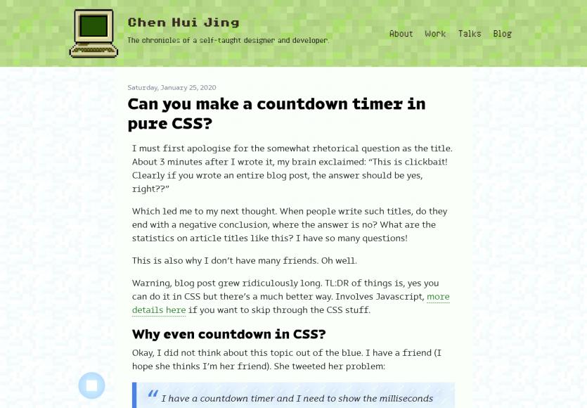 Un compte à rebours en CSS uniquement
