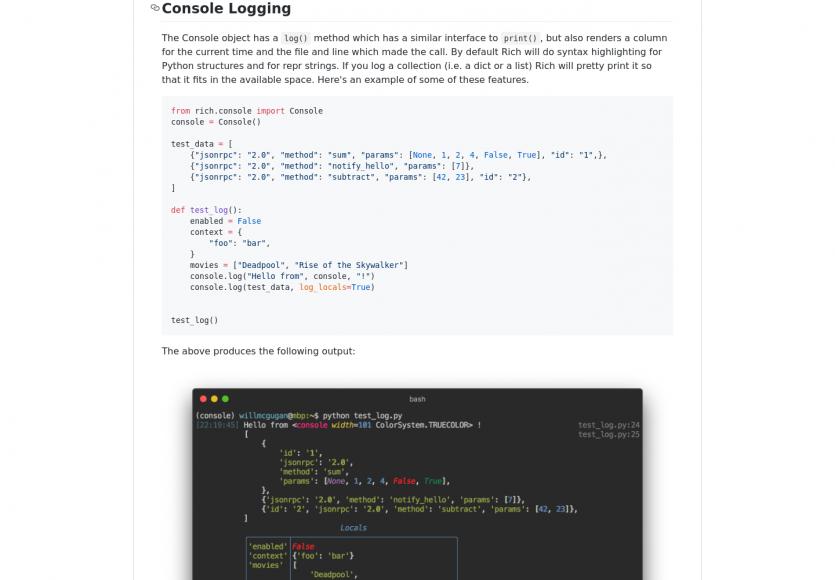 Rich: une lib Python pour mettre en forme facilement vos app console