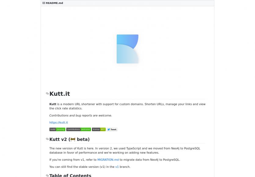 Kutt : un outil de raccourcissement d'URL moderne, self-hosted et open source