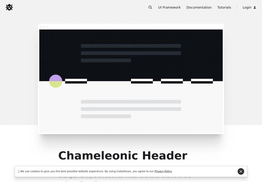Créer un header caméléon qui change de style au scroll