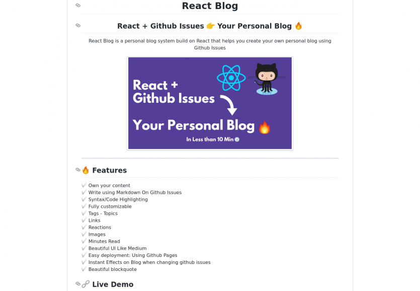 Créez un blog rapidement avec React depuis vos issues Github