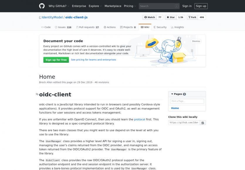 oidc-client: un client Javascript OpenID Connect et Oauth2 pour vos app web