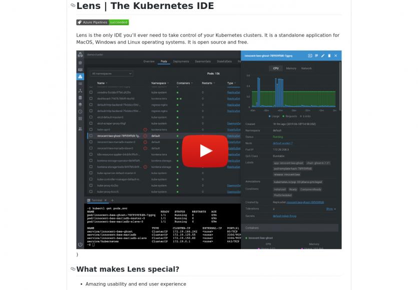 Lens : une app open source pour gérer et monitorer vos clusters Kubernetes