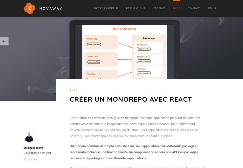 Créer un Monorepo avec React.js pour une meilleure architecture