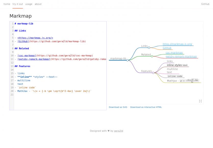 Markmap : créez des graphes mindmap avec du Markdown