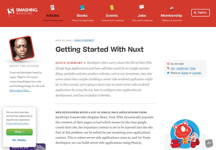 Un guide pour bien démarrer avec Nuxt.js et le server-rendering de SPA