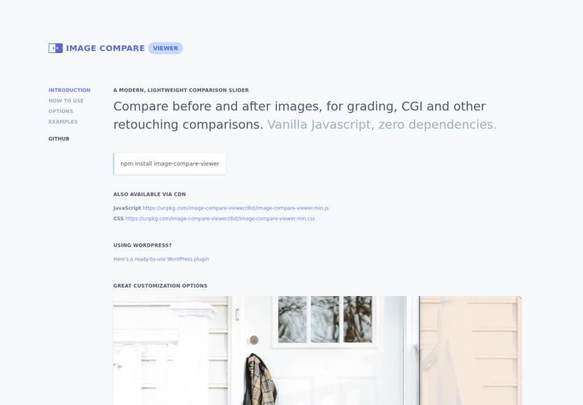 Un script JS moderne pour mettre en place un comparatif d'images sous forme de slider