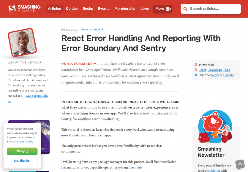 Gestion d'erreur et reporting d'erreur dans React avec Sentry