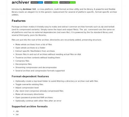 Archiver 3.0 : Un outil de compression / décompression multi format cross-platform