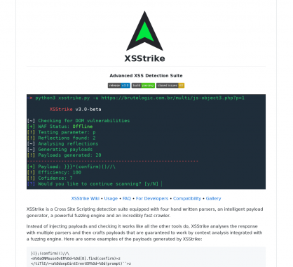 XSStrike : une suite de détection de failles XSS avancée