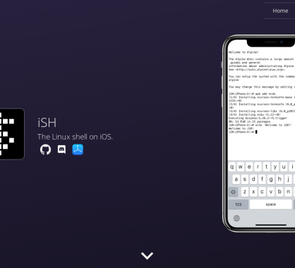 iSH : le shell linux directement sur votre iPhone