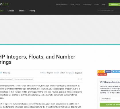 Focus sur les integers, float et string number en PHP avec des cas un peu spécifiques