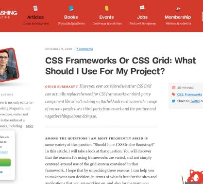 Frameworks CSS ou CSS Grid : que choisir pour son projet web ?