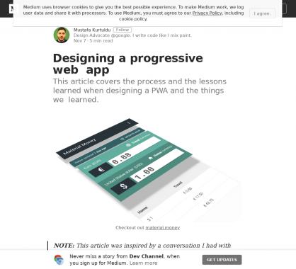 Designer une progressive web app