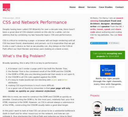 CSS et performance réseau