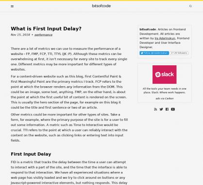 Qu'est-ce que le First Input Delay ?