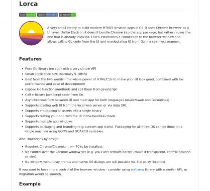 Lorca : un framework pour créer des apps desktop cross-os en Go et HTML
