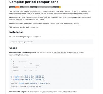 Period : une lib PHP pour réaliser des comparaisons de périodes avancées