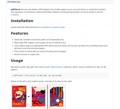 pdftilecut : redimensionnez vos PDF en plus petites tailles pour les adapter à votre imprimante