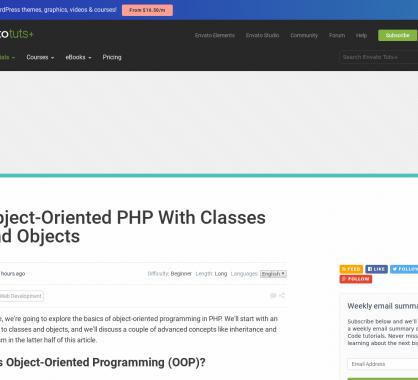 Les bases de l'orienté objet en PHP pour les débutants