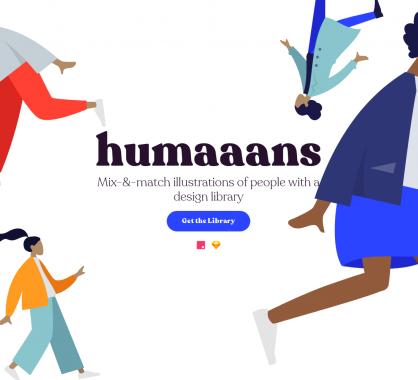 Humaaans : des illustrations de personnes configurables facilement pour vos designs