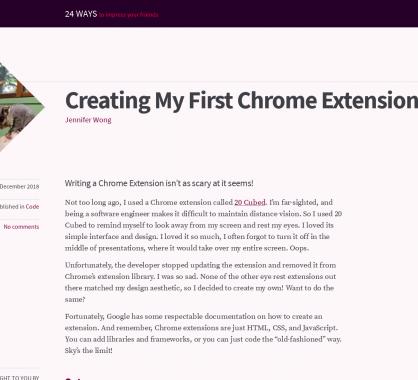 Créer sa première extension Chrome