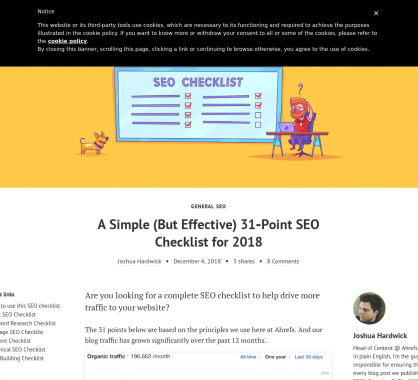 31 points SEO simples mais efficaces par Ahrefs